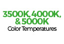White Downlight color temperatures