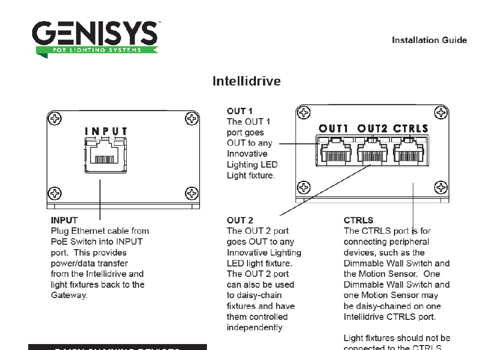 genisys physical installation guide