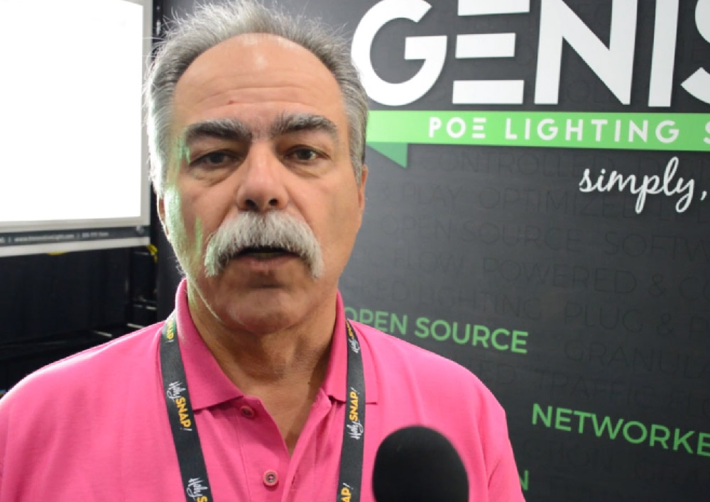 cedia show GENISYS poe lighting